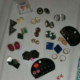 Bulk Earrings and Few Rings
