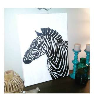 Zebra Painting - Original by Artist