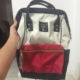 *BRAND NEW* Anello backpack-navy White and Red