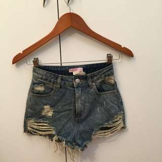 Supre Ripped Shorts