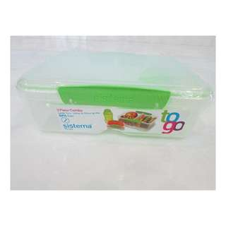 Sistema Plastic box with Water bottle (Brand New)