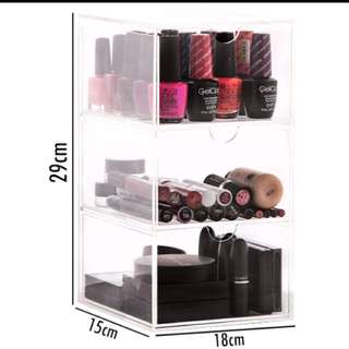 3 Drawers Make Up Organizer