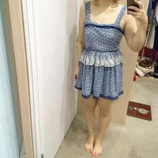 日系蕾絲鄉村風洋裝