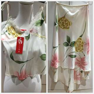 Satin Floral Outfit