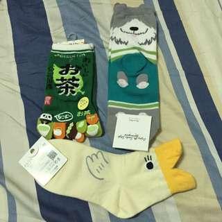 日韓 可愛造型襪/5指襪