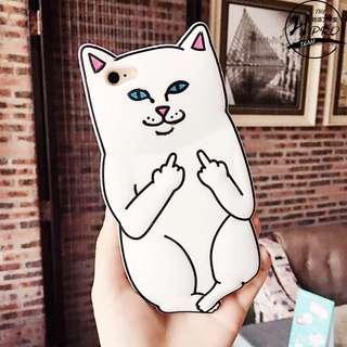 Iphone6(4.7吋)中指貓手機保護套