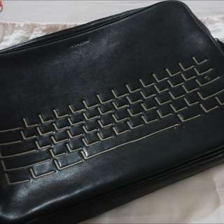 "15"" Coach Leather Laptop Sleeve"