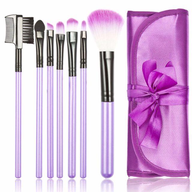 6pcs Purple Complete Makeup Artist Brush Set