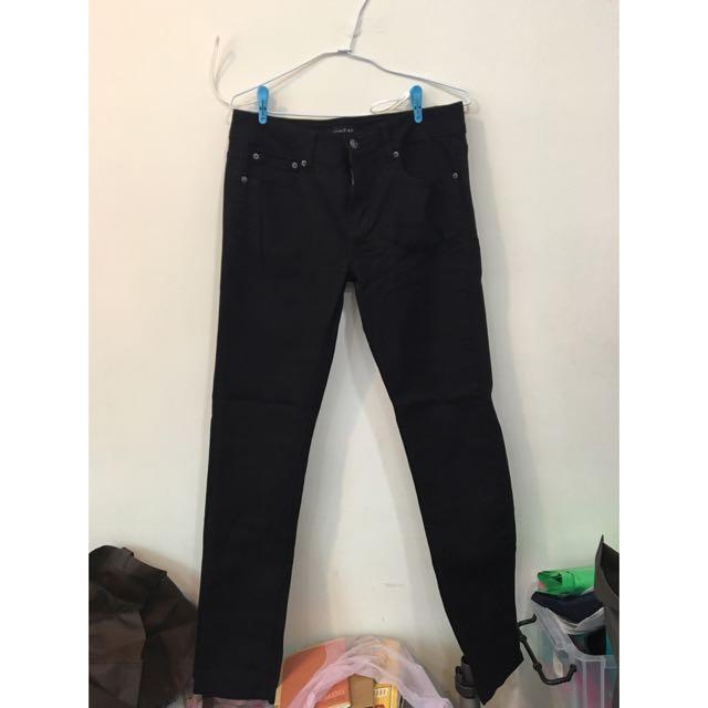 全新黑窄管褲
