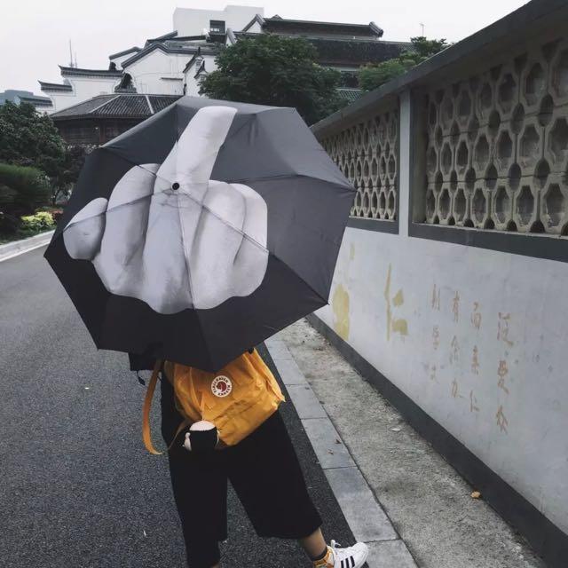 日本代購 中指折疊傘