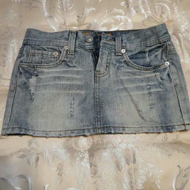 丹寧 牛仔短裙 25腰