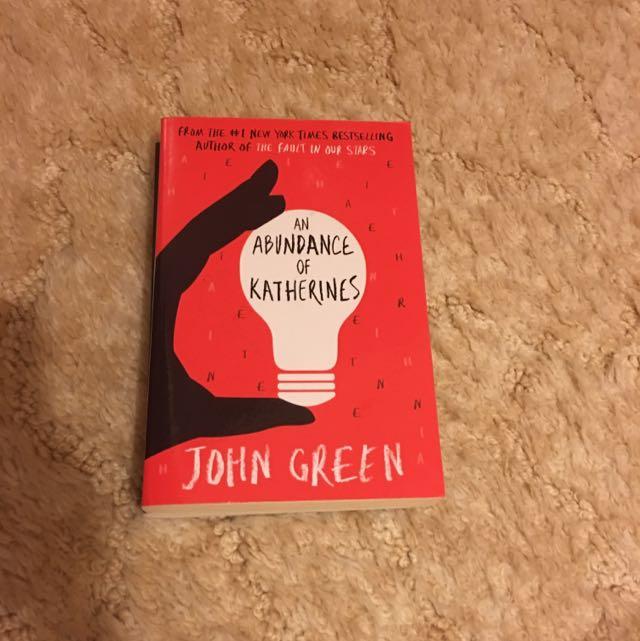 An Abundance Of Katherine's By John Green