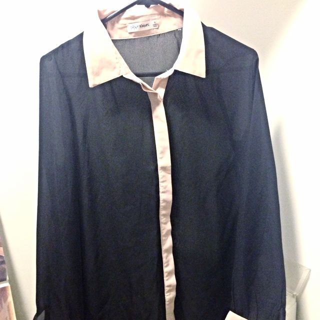 Black blouse button up