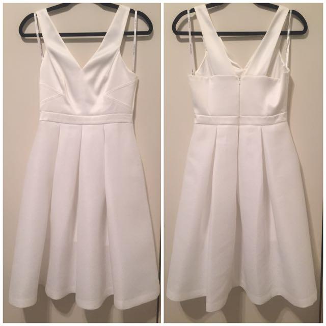 ForeverNew White Sleeveless Dress