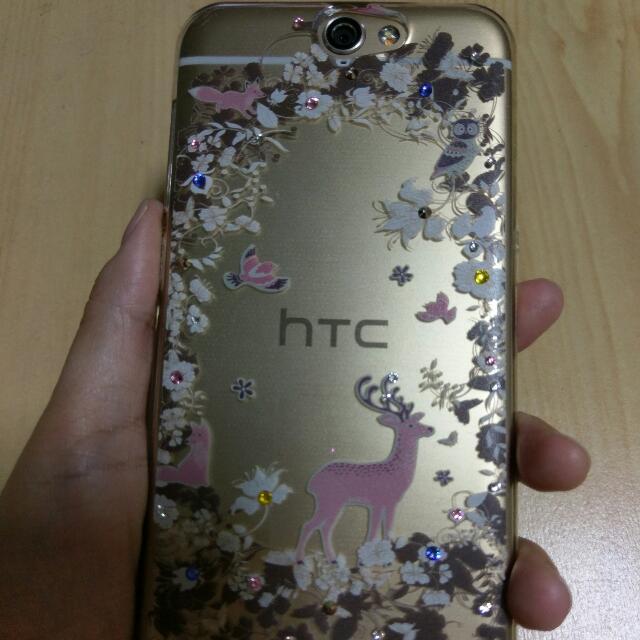 HTC A9 水鑽手機殼 森林動物 軟殼