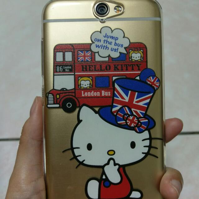 HTC A9 Hello Kitty 手機殼 軟殼 英倫風