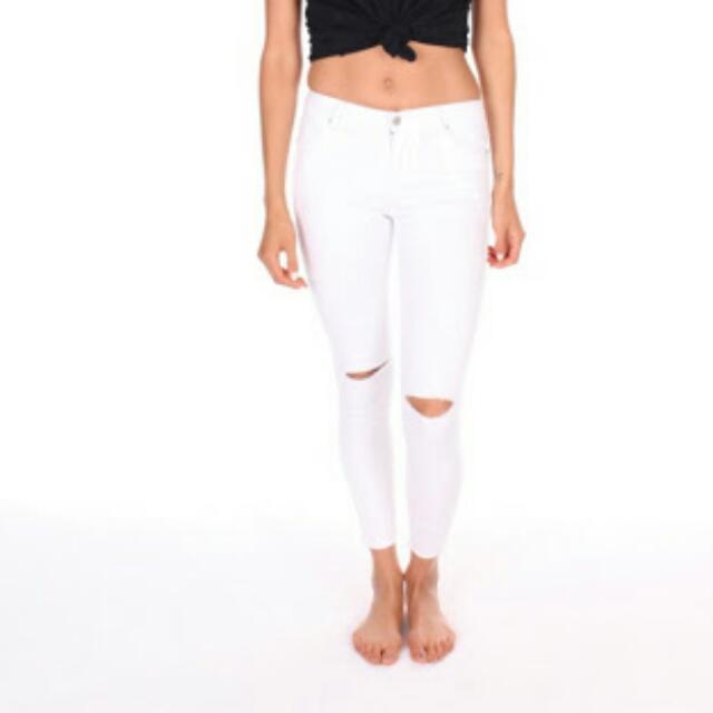 White Skinny Leg Jeans