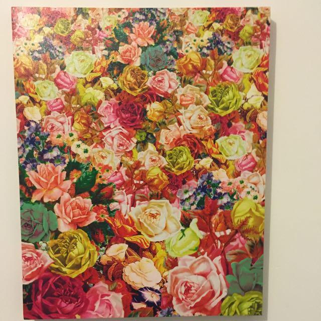 Large Canvas Print- Floral