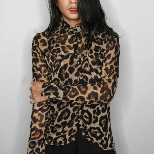 Leopard Sheer Blouse