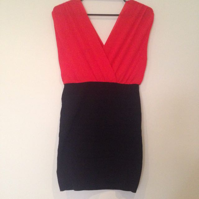 LIVE - Red And Black Dress - Bodycon Skirt