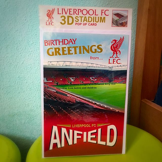 LIVERPOOL FC 3D Stadium Pop Up Birthday Card Everything Else On Carousell