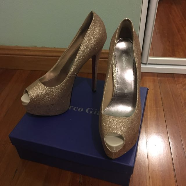 Marco Gianni Glitter Pumps