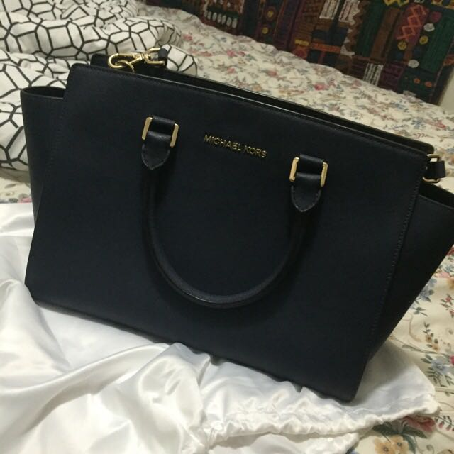 Michael kors Large Selma Tote In navy