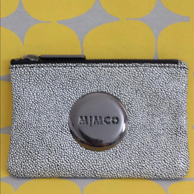 Mimco white and black pouch
