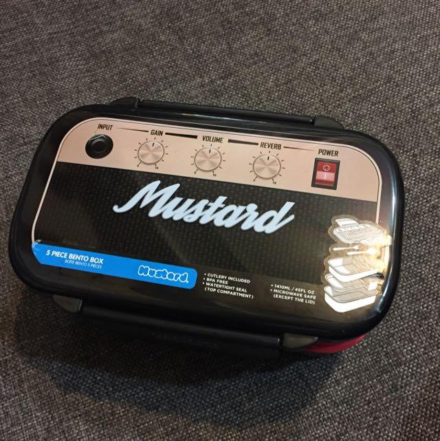 Mustard 便當盒 保鮮盒 微波 多層 餐具 音響 音箱 相機