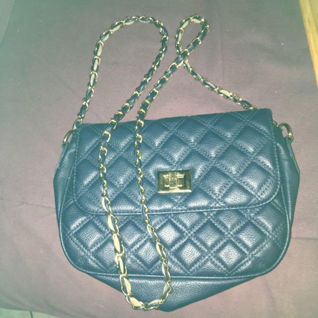 Navy Blue Hand Bag