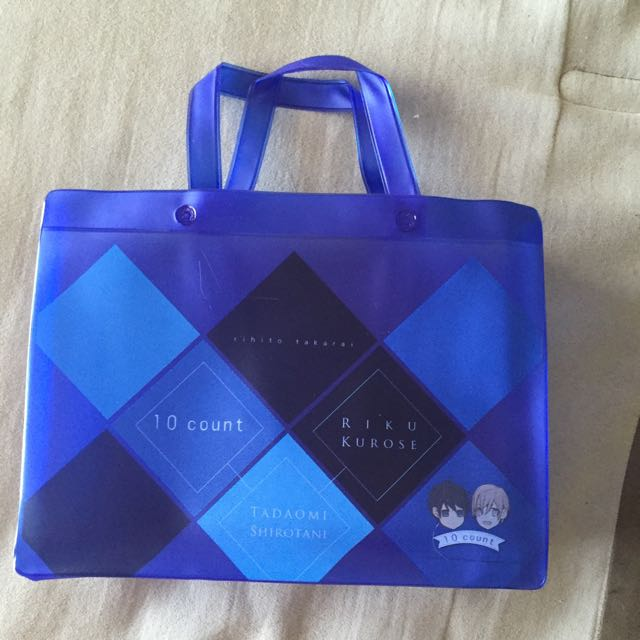 NEW RARE Ten Count Yaoi Manga Blue Mini Tote Bag