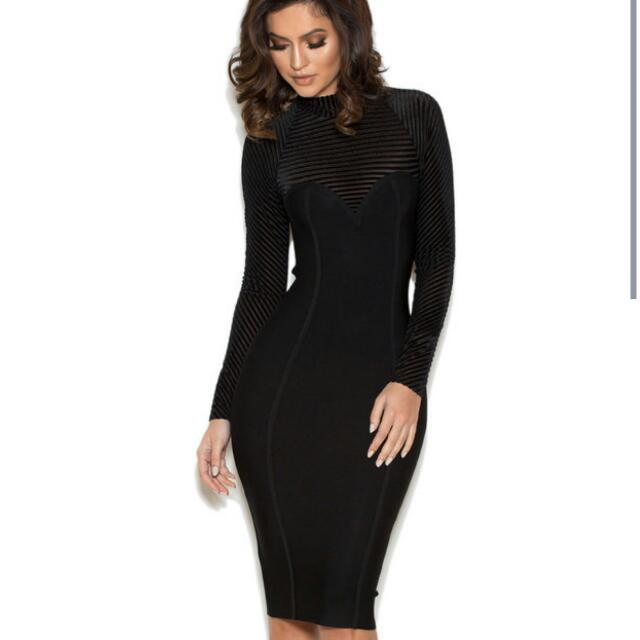 fdb3cb03b43ec Norella long sleeved bandage dress from House of CB London. Free  international delivery!, Women's Fashion on Carousell