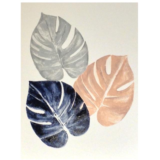 Painting Monsteria Leaves - Original by Artist
