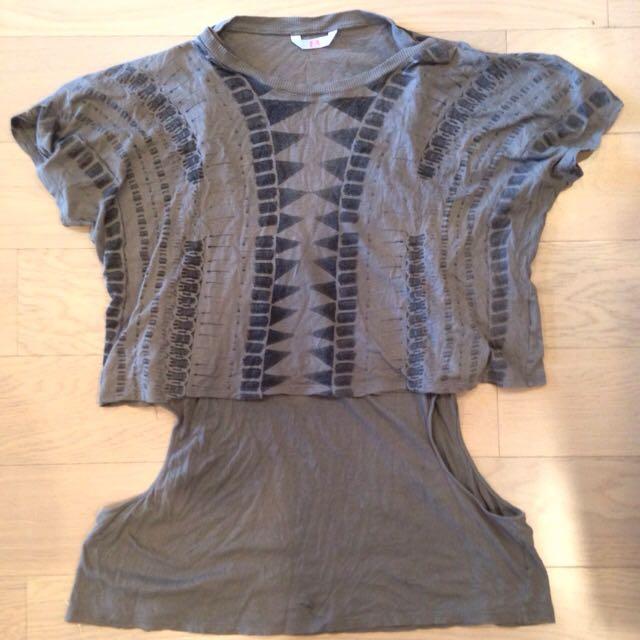 SASS & BIDE tribal Print Layered Shirt