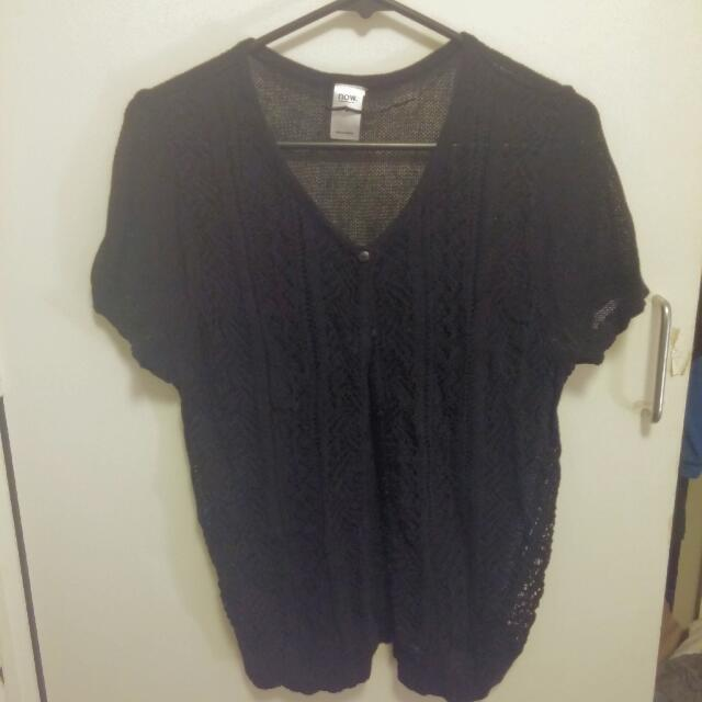 Short Sleeve Knitted Cardi