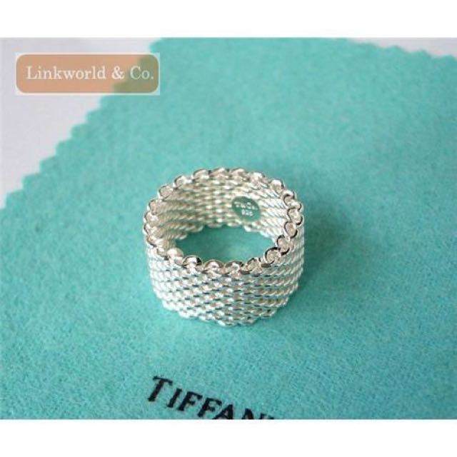 d959da5f1 Tiffany and co somerset mesh ring, Women's Fashion on Carousell