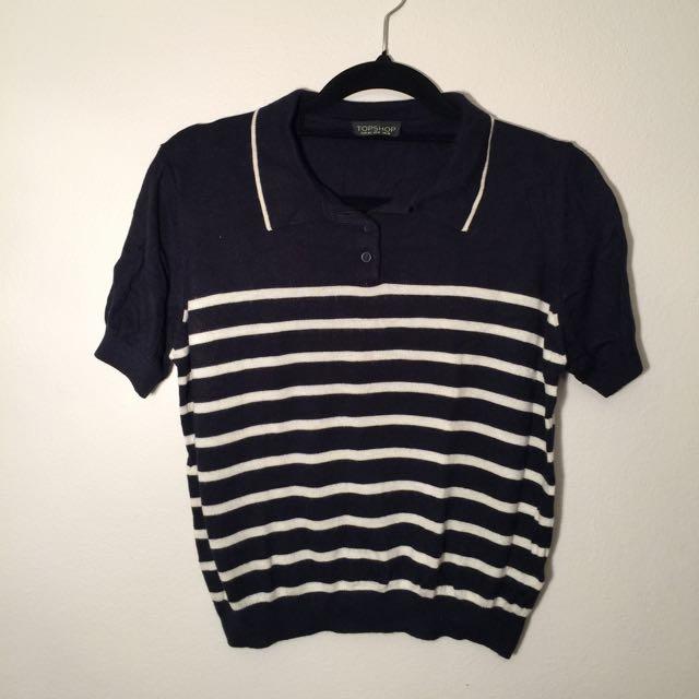 Top Shop Knit T-shirt Size Us 8