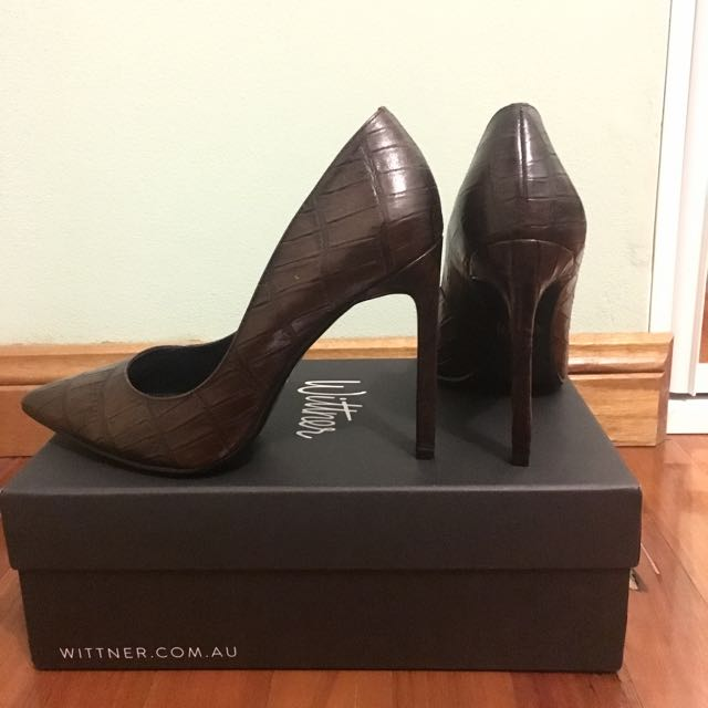 Wittner Chocolate Brown Croc Stiletto