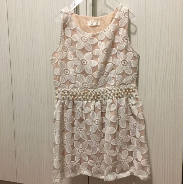 轉賣東京著衣Yoco系列珠珠花朵優雅洋裝