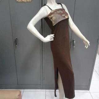 Dress Dgn model Kemben tinggal 1 size S-M