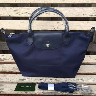 Longchamp Le Pliage Neo Tote / Crossbody Bag. Small Size. Navy.