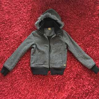 Freshjive Wool Blend Hoodie Jacket Size XS