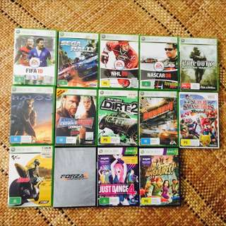 XBOX 360 & WII GAME BUNDLE