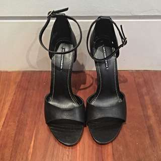 Black Lizard Sandals