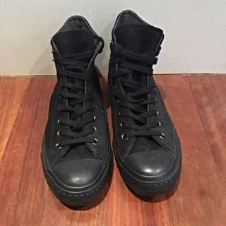 Black Suede Studded High Tops