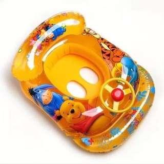小熊維尼方向盤兒童游泳圈