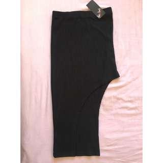 Womens High Waisted Side Cut Skirt