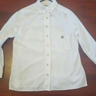 Authentic Vintage Chanel White Collar Blouse