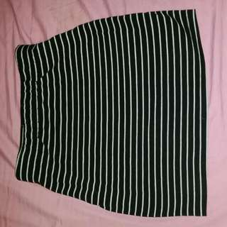 HighWaisted Stripe Skirt
