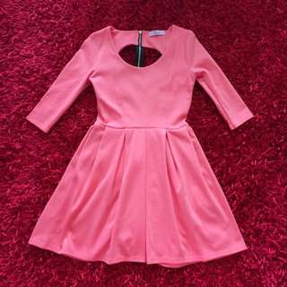 Paprika Coral Skater Dress Size 6